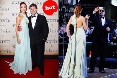 Olga Kurylenko looked beautiful at the world premiere of <i>The Water Diviner</i> in Sydney. Even Russell Crowe dolled up for the glam affair!
