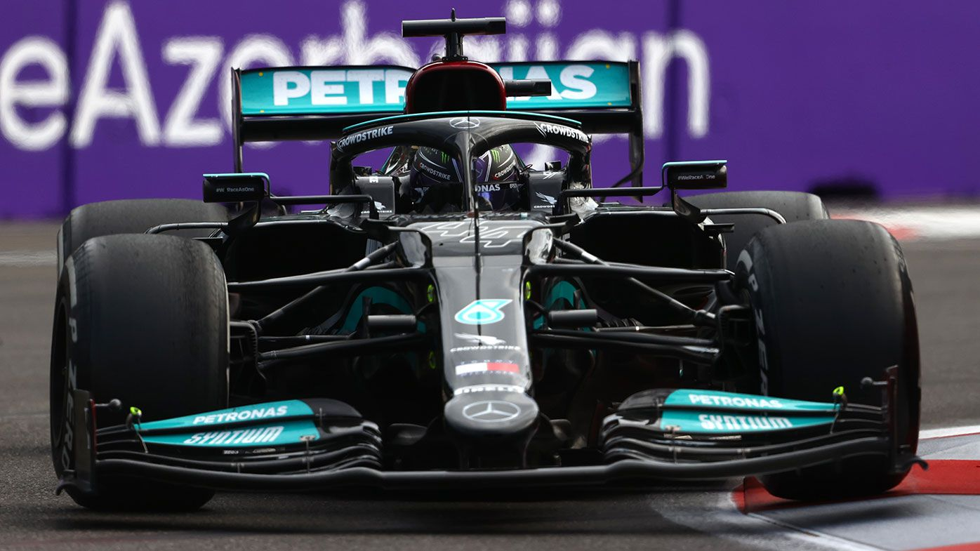 Lewis Hamilton finished out of the points at the Azerbaijan Grand Prix.