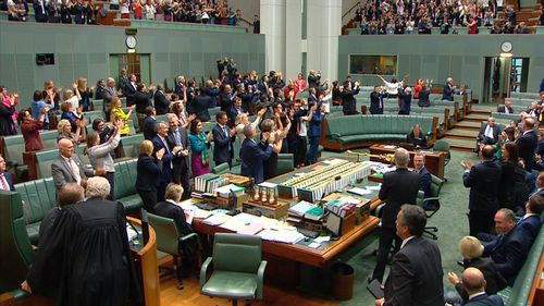 The chamber was upstanding as the bill passed. (9NEWS)