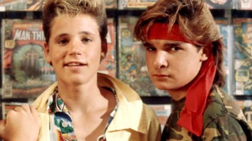 Both Corey Haim (left) and Corey Feldman claimed to have been sexually abused by Hollywood moguls when they were children.