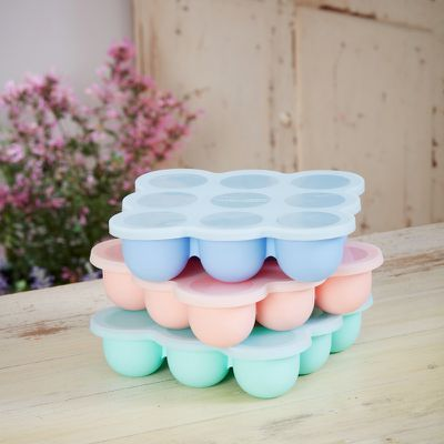 Silicone pods for freezing homemade baby mush - or for ice, crafting, serving sweets and more.