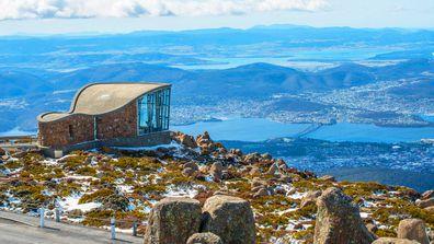 Hobart, Tasmania view from mountain