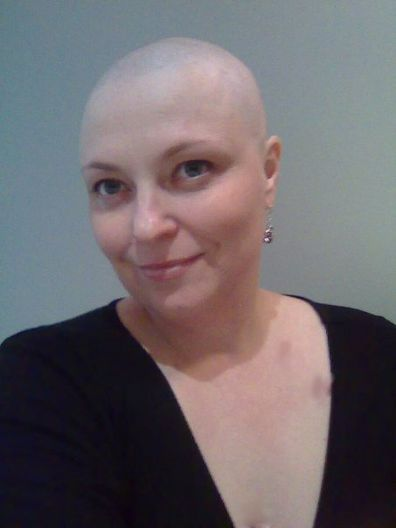 Rachael during her treatment for triple negative breast cancer