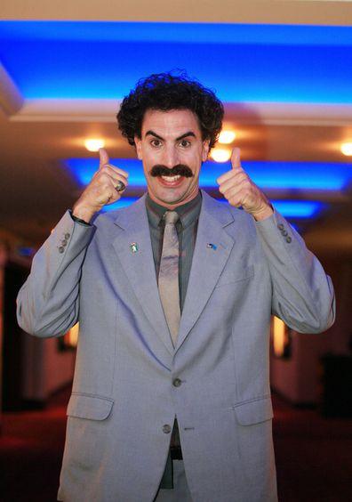 Sacha Baron Cohen as Borat during Borat Special Screening for MySpace at AMC Metreon in San Francisco, California, United States in 2006.