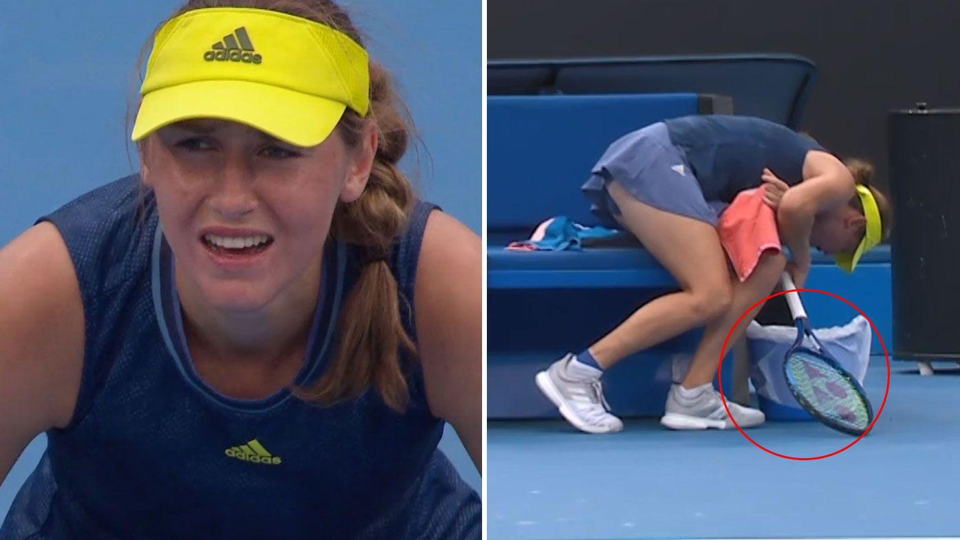 Slovenian young gun throws up mid-match, still advances through to third round of Australian Open