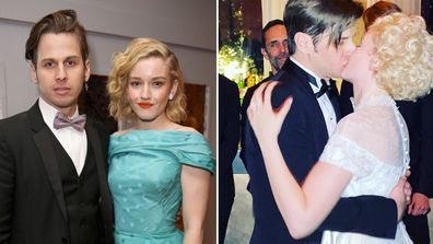 Mark Foster and Julia Garner. wedding, photo, Instagram