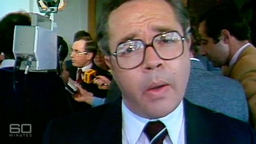 Oakes in his reporting heyday. (60 Minutes)