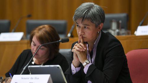 Penny Wong has decried hate speech.