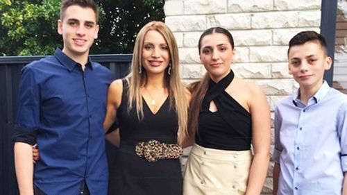 Michelle Leventis (second left) with her children, 17-year-old Nicholas, 14-year-old Taylah  and 16-year-old Christian. (Photo: Michelle Leventis)