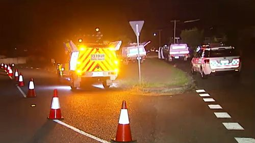A man died at the scene of a suspected hit and run in Inala. (9NEWS)