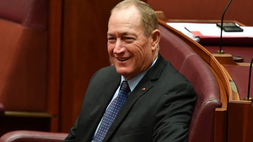 Senator Anning cut himself loose from Pauline Hanson's party to sit as an independent on the Senate crossbench in November. (AAP)
