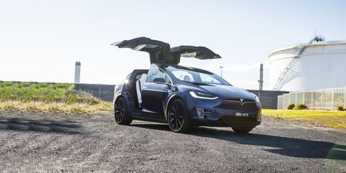 The Tesla Model X should have the update when it comes through in August. Picture: Supplied