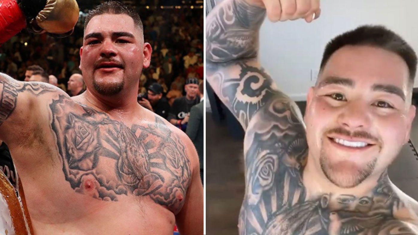Ruiz Jr shows off incredible weight loss. (Instagram)