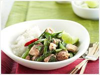 Thai chicken with asparagus and basil