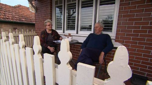 22 homes will be bulldozed, a handful will be in Cammeray.  This couple thankfully held onto their property. Picture:9NEWS
