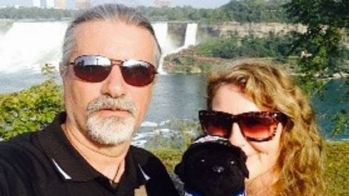 Steve and Barbara Thomas crashed after a wild turkey flew into their path. (Supplied)