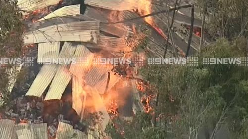 Another structure at Cobaw, believed to be a shed, appears to have been destroyed in the blaze. (9NEWS)