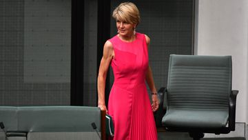 vFormer Liberal deputy leader Julie Bishop pictured in the House of Representatives yesterday.