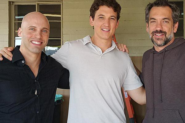 David Packouz's Hollywood moment with 'Arms and the Dudes' actor Myles Teller and the film's director Todd Philips.