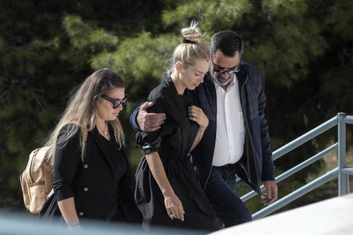 John Macris funeral: Wife in tears at underworld figure's Athens funeral