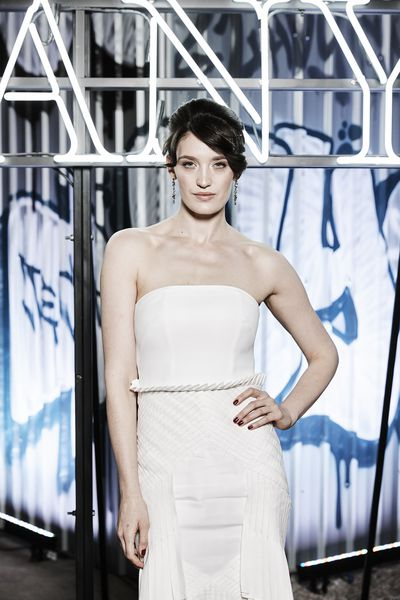 Actress Tess Haubrichat the Tiffany & Co. HardWare launch, Carriageworks, Sydney.