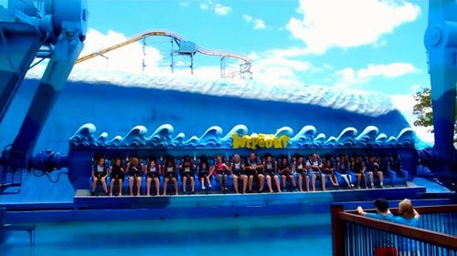 Queues for rides was not unusual before the 2016 tragedy. Picture: 9NEWS