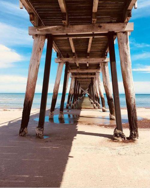"""Lady Largs #jetty #beachwalks #southaustralianbeaches #radelaide #largsbay #sagreat #warriorsandweirdos #peaceout #notallthosewhowanderarelost."" - Add Libbs (Instagram)"