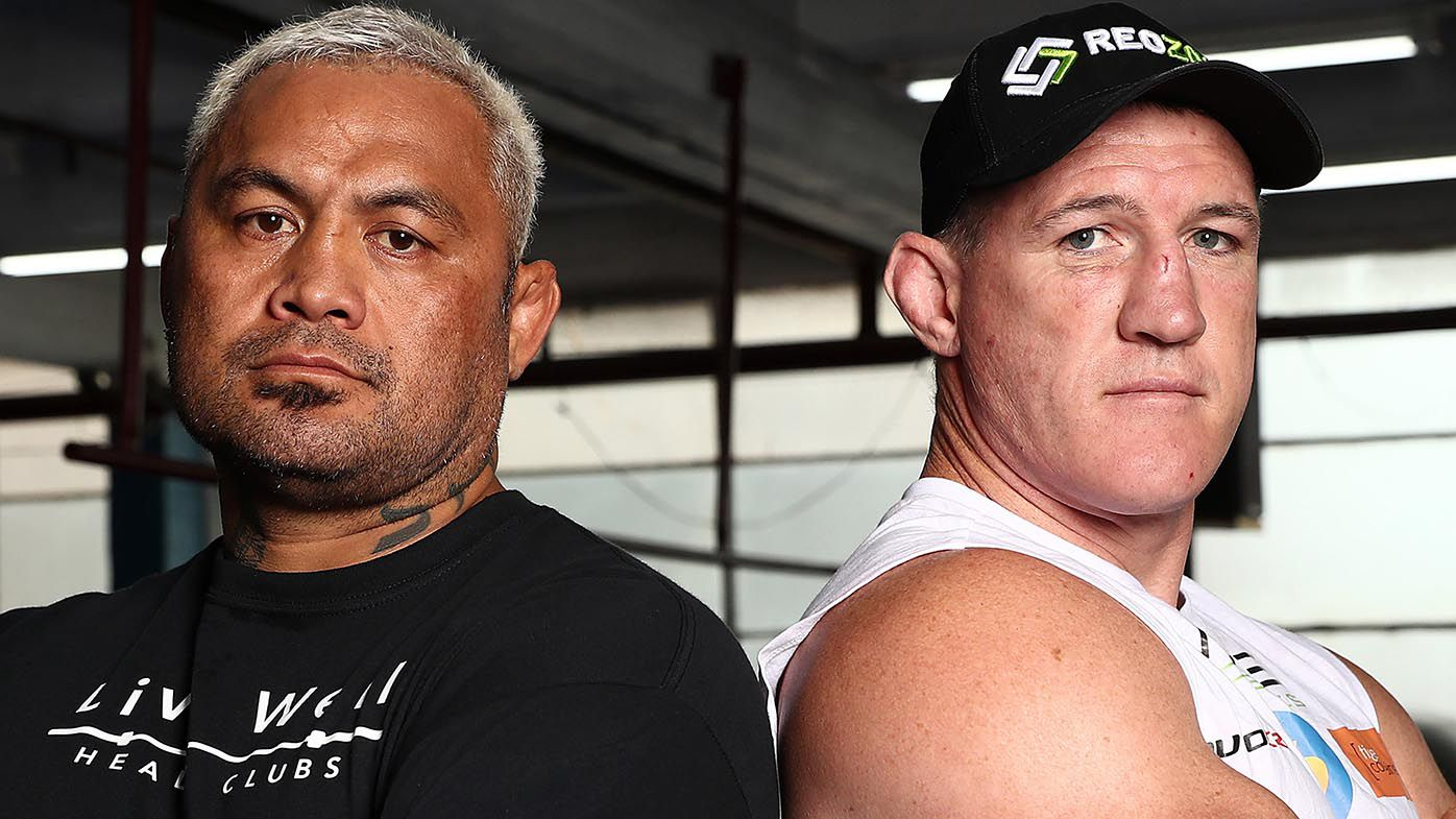 Paul Gallen and Mark Hunt exchange trash talk at pre-fight press conference
