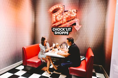 There's lots to see and do at International Comic-Con so cool your heels at Pop's Chock'Lit Shoppe.