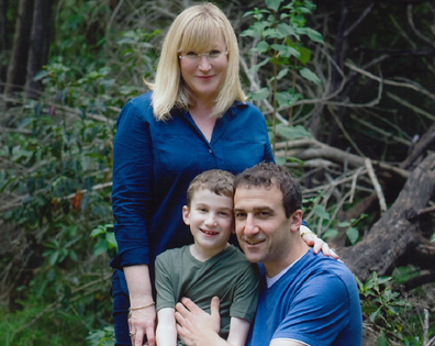 Donna with her husband Jason and son Luca.