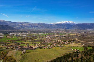 The Valle Peligna in Abruzzo, Italy