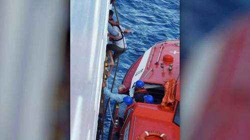 They were rescued near New Caledonia.