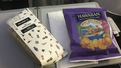 Hawaiian Airlines lunch HNL-LAX