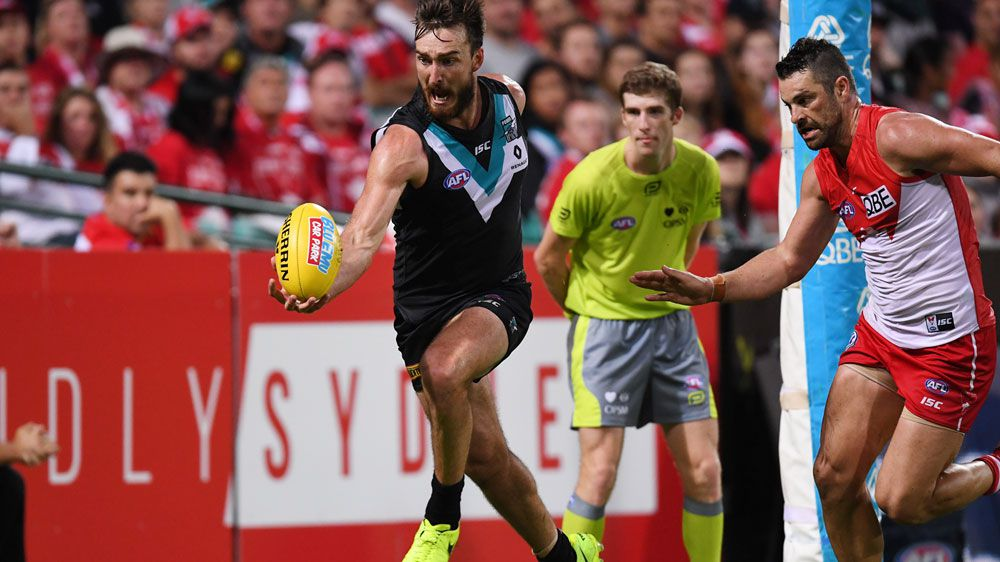 Port Adelaide shock Sydney Swans in AFL upset at SCG