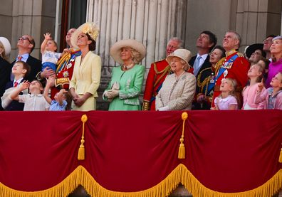 The royal gather at Buckingham Palace for Trooping The Colour in 2019.