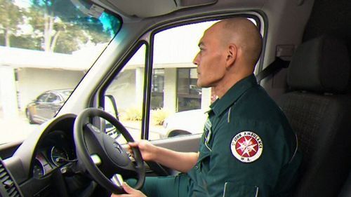 Mr Ackerman is now back driving ambulances, but still suffers pain from his injuries. (9NEWS)