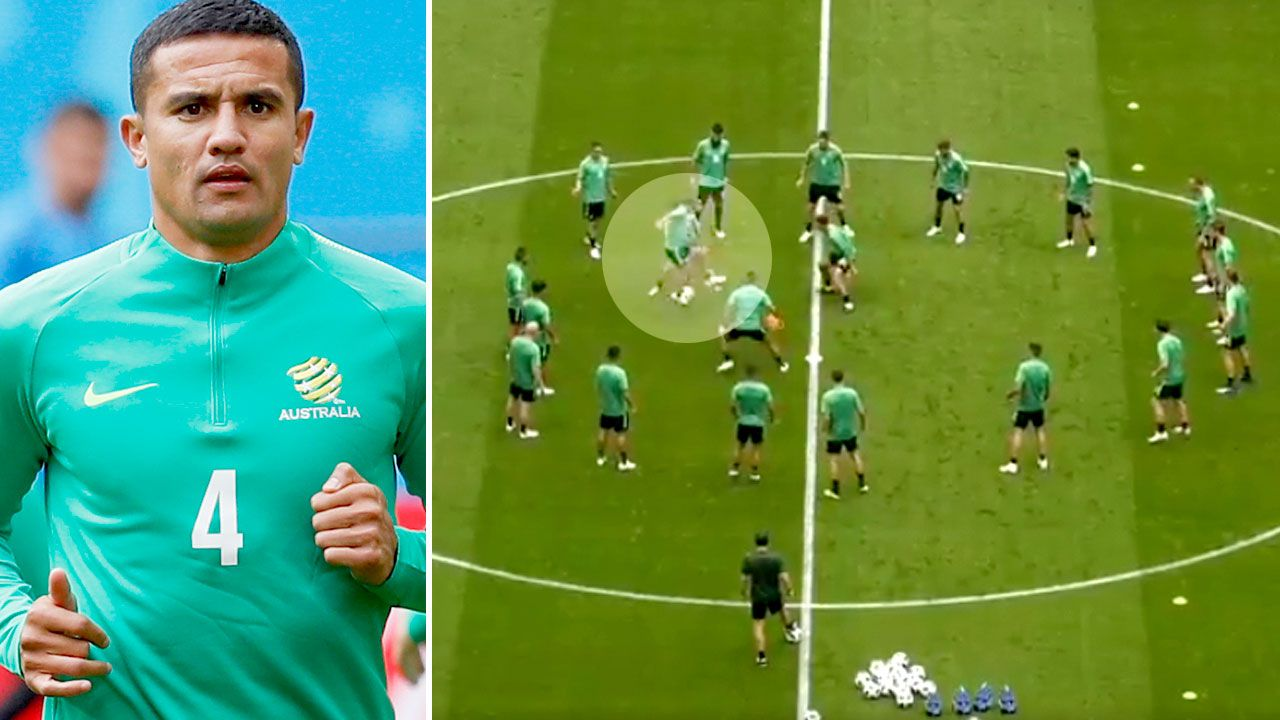 World Cup 2018: Tim Cahill delights Socceroos with training ground nutmeg