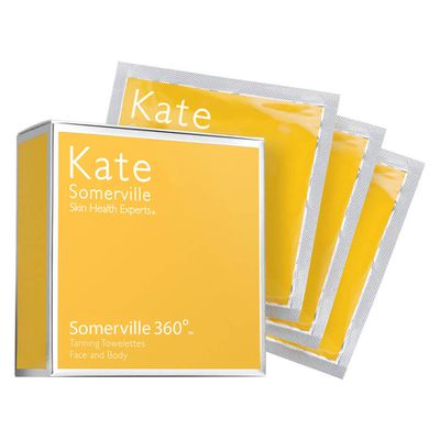 "<a href=""http://mecca.com.au/kate-somerville/somerville360-body-self-tan-towelettes/I-013695.html"" target=""_blank"">Kate Somerville Somerville 360 Body Self Tan Towelettes, $70.</a>"