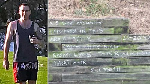Locals are so concerned they've put up a description of the attacker near the Leichhardt rowing club (9NEWS)