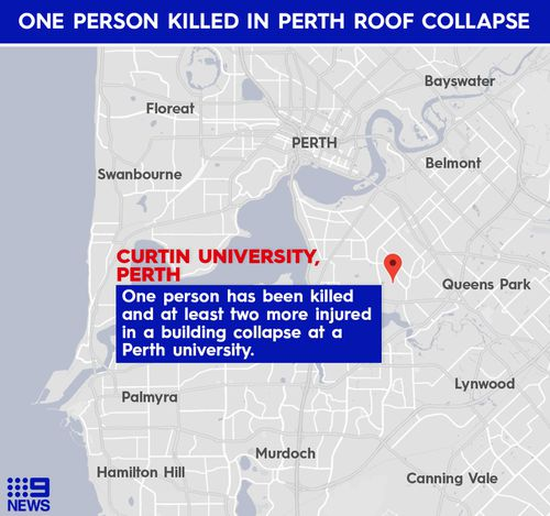 One dead, two seriously injured after ceiling collapse at Curtin Uni