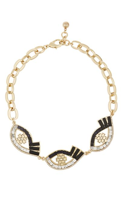"<p><a href=""http://www.net-a-porter.com/product/572285/Lulu_Frost/lumen-gold-plated-multi-stone-necklace"" target=""_blank"">Lumen gold-plated Multi-stone necklace, $421.23, Lulu Frost at net-a-porter.com</a></p>"