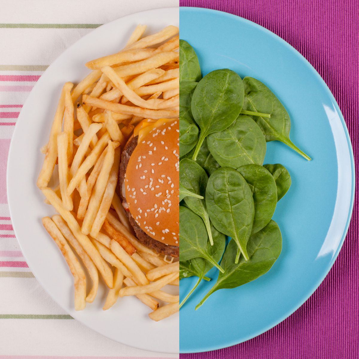 fast food meal calorie percentage to normal diet