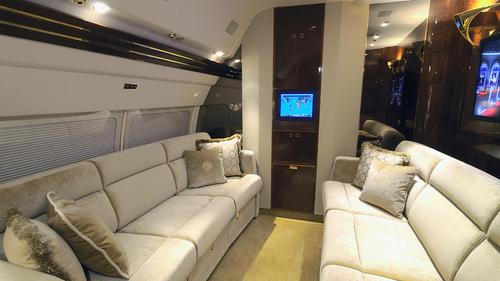 A private cabin in Mr Trump's plane.