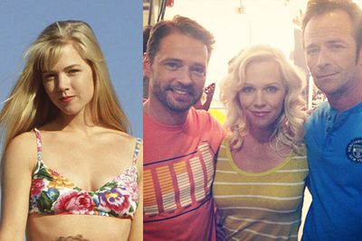In August 2012, the boys reunited with Jennie Garth, who played Kelly, for ad for clothing brand Old Navy.