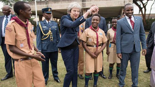 Theresa May's dance moves raised eyebrows back in Britain.