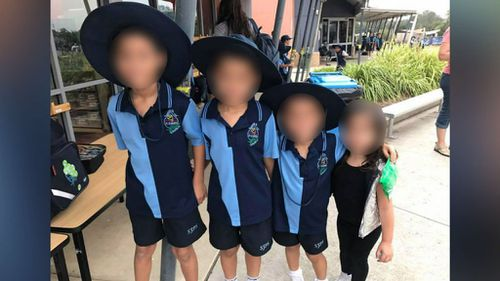 The little girl and her siblings. (9NEWS)