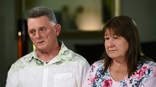 Kayla's parents Ian and Teresa say they did not recognise their daughter when they saw her in hospital.