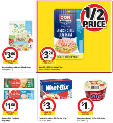 Coles has you covered for breakfast, lunch and for your afternoon snack.