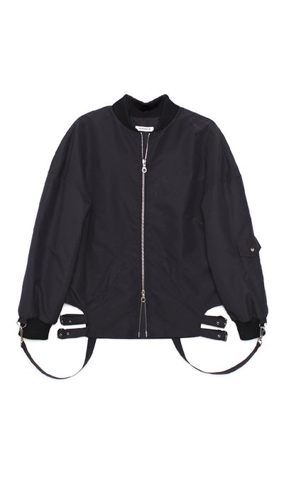"<a href=""http://shopsuperstreet.com/collections/womens-clothing/products/the-fashion-club-ma-1-bomber?variant=1161180019"" target=""_blank"">Jacket, $725, The Fashion Club at shopsuperstreet.com</a>"
