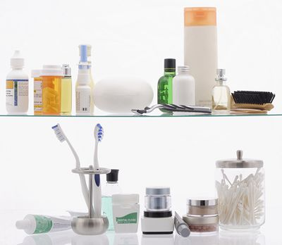 3. Keeping your toothbrushes in the bathroom cabinet